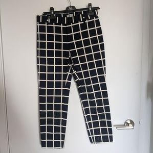 The GAP Skinny Stretch Windowpane Print Pants SZ 2
